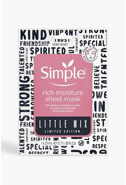 Simple X Little Mix Rich Moisture Gesichtsmaske, Rosa