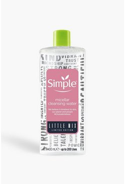 Acqua micellare 400 ml Simple per Little Mix, Rosa, Femmina