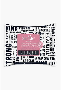 Womens Pink Simple X Little Mix Biodegradable Face Wipes