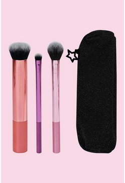 Womens Pink Real Techniques Luminous Set