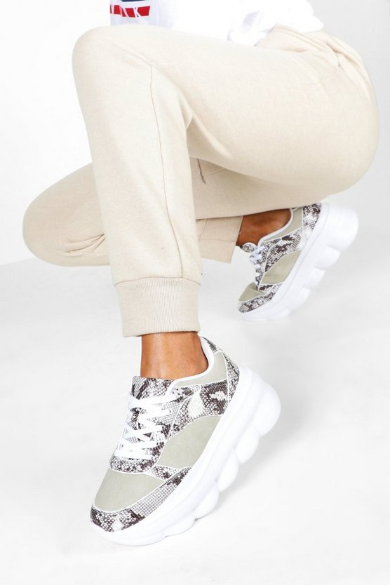 Snake Bubble Sole Trainer