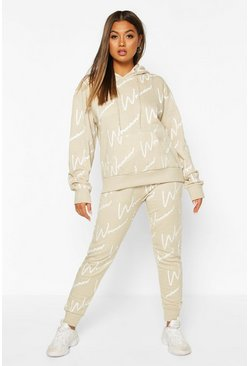 Stone Woman All Over Print Hooded Tracksuit