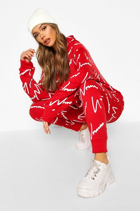 Woman All Over Print Hooded Tracksuit