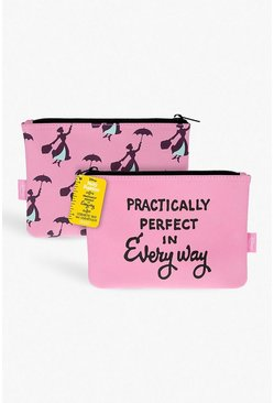 Womens Pink Mary Poppins Make Up Bag