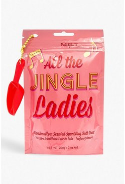 Womens White Jingle Ladies Bath Salts