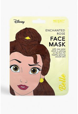 Womens Yellow Disney Princess Face Mask - Belle