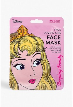 Womens Pink Disney Princess Face Mask - Sleeping Beauty