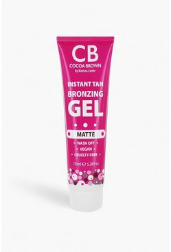 Womens Clear Cocoa Brown Bronzing Gel Matte