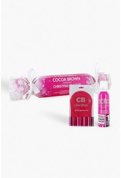 Womens Pink Cocoa Brown Christmas Cracker