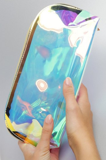 Clear Holographic Makeup Bag