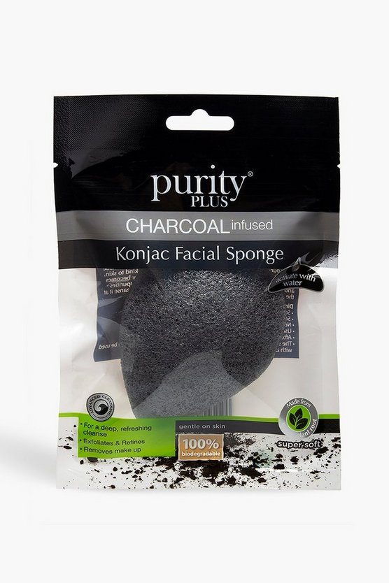 Black Purity Plus Charcoal Infused Konjac Sponge