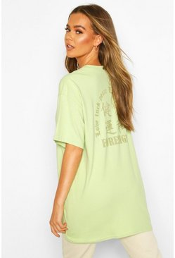 Khaki Symbol Back Print Graphic T-Shirt
