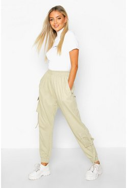 Womens Sage Cargo Loopback Joggers