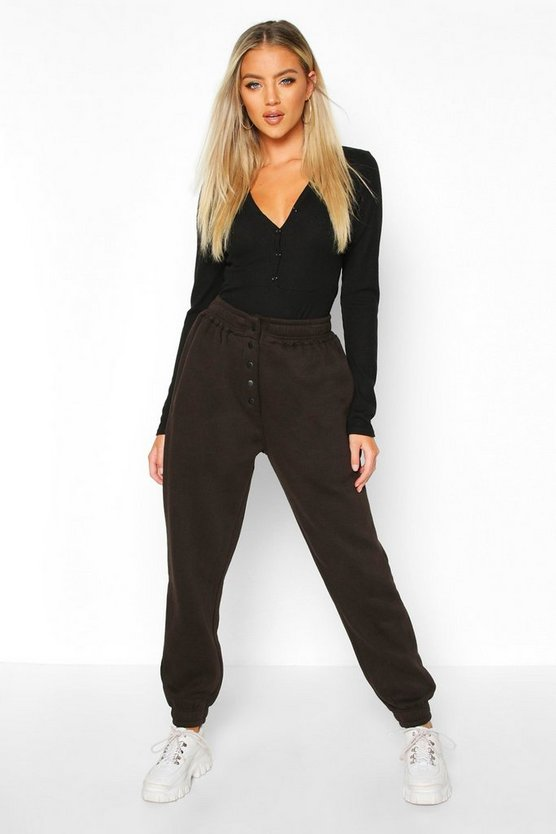 Popper Front Loopback Joggers