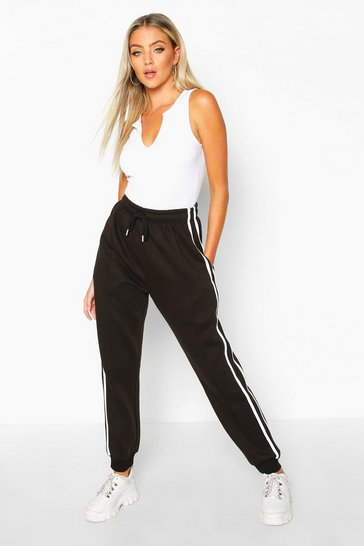 Black Double Side Stripe Jogger