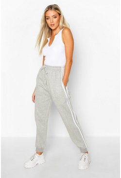 Grey marl Double Side Stripe Jogger
