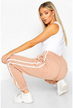 Womens Rose Contrast Panel Loopback Jogger