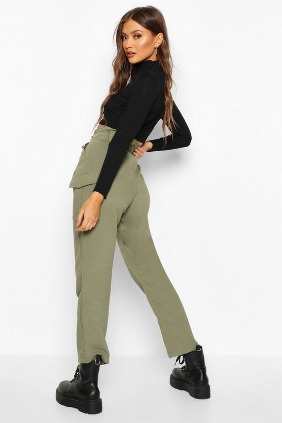 Paperbag Waist Cargo Trousers