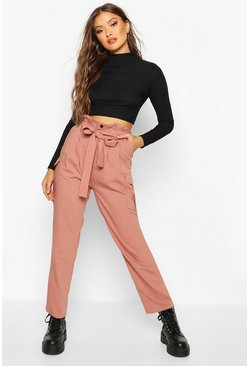 Rose Paperbag Waist Cargo Trousers