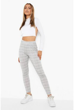 Black Mini Dogtooth Basic Jersey Leggings