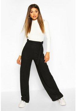 Cargo Pocket Side Wide Leg Trouser