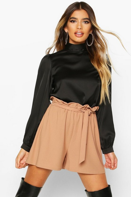 Tie Waist Longline Shorts