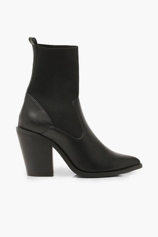 Wide Fit Cowboy Sock Boots