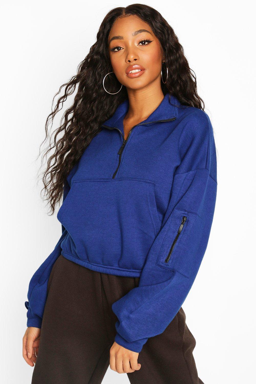 Купить со скидкой Спортивный свитер с высоким вырезом и молнией спереди