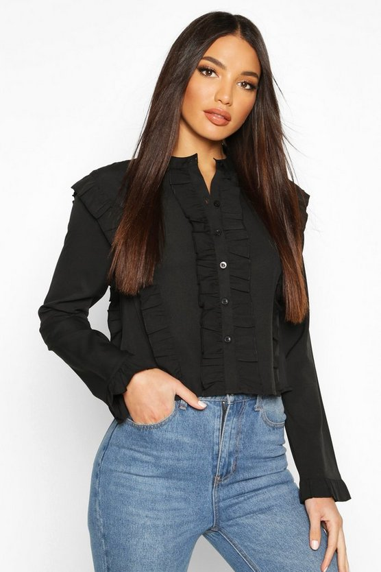 Ruffle Long Sleeved Shirt