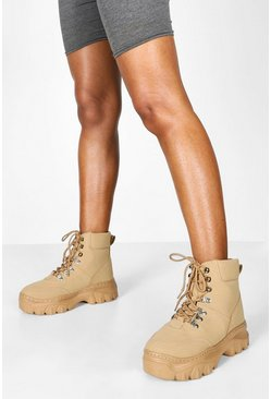 Dam Honey Wide Fit Chunky Hiker Boots