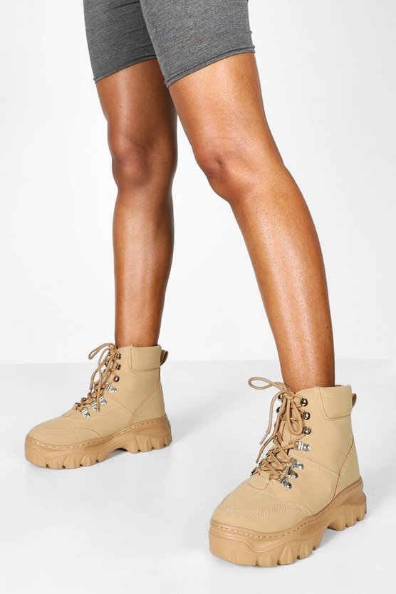 Wide Fit Chunky Hiker Boots
