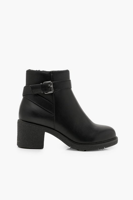 Wide Fit Shearling Lined Shoe Boots