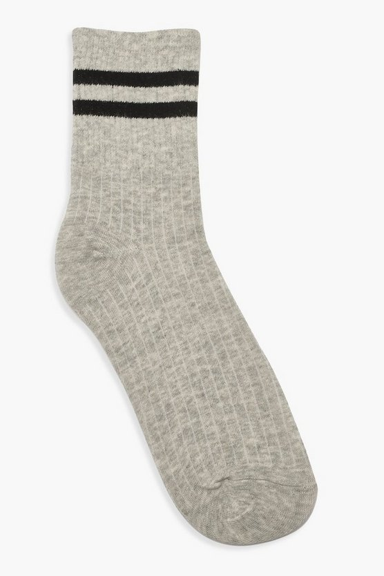 Sports Stripe Ankle Socks