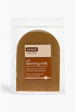 Womens Brown Nuage Glow Tanning Mitt
