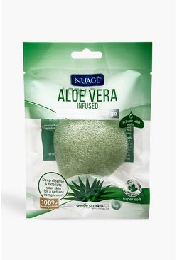 Womens Green Nuage Aloe Vera Infused Konjac Sponge