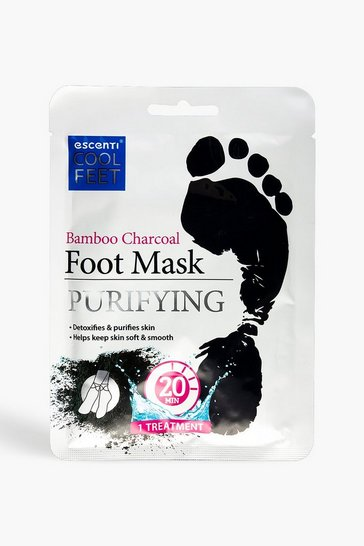 Black Escenti Cool Feet Bamboo Charcoal Foot Mask