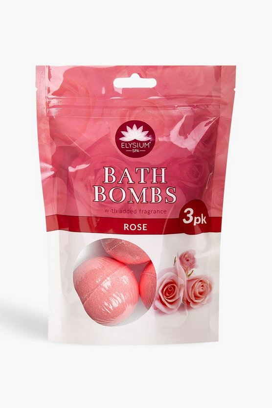 Elysium Spa Bath Bombs Rose x3