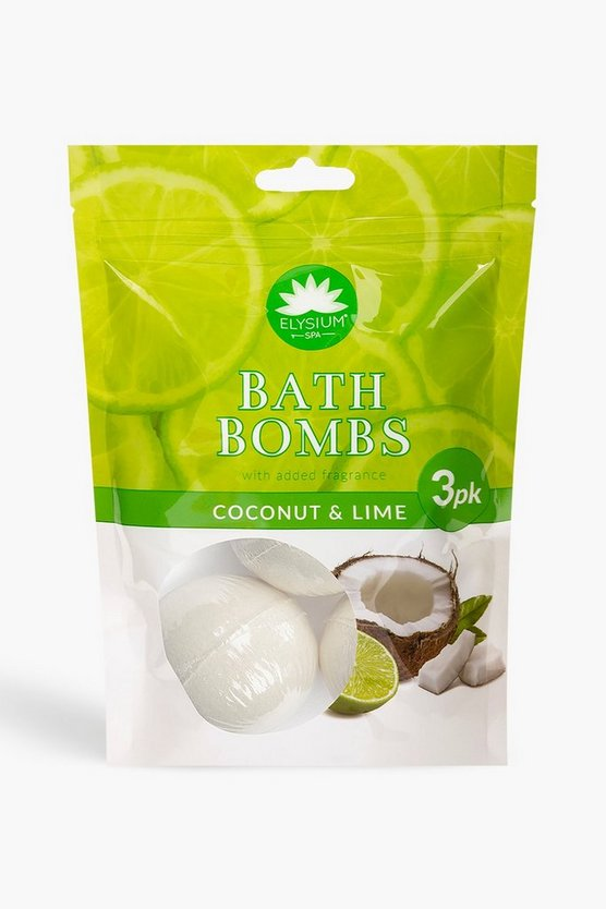 Elysium Spa Bath Bombs Coconut & Lime x3