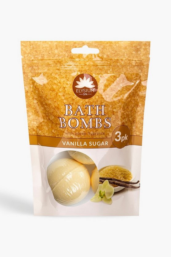 Elysium Spa Bath Bombs Vanilla Sugar x3
