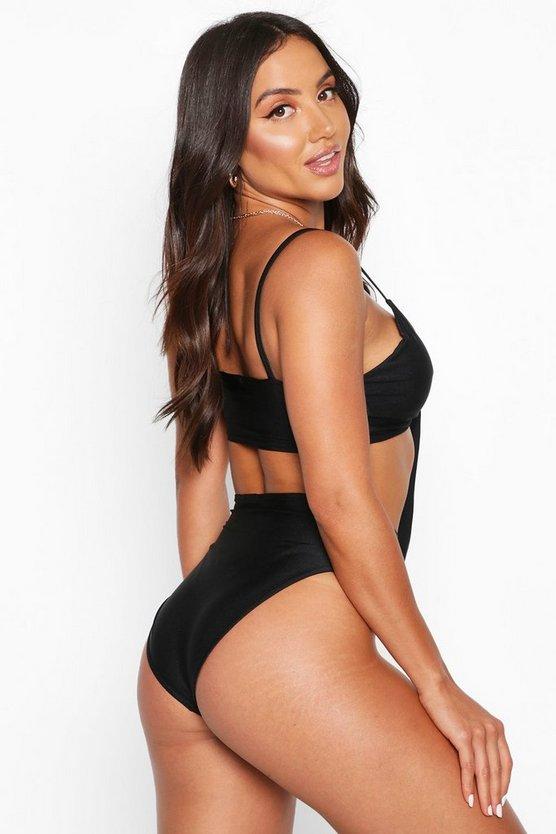 Mix & Match Tie Front Bikini Top