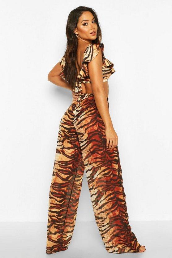 Tiger Print Beach Trousers