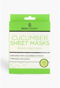Womens Clear Skin Academy Cucumber Sheet Face Mask