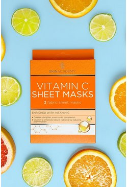 Womens Clear Skin Academy Vitamin C Sheet Face Mask