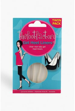 Womens Clear The Foot Factory Gel Heel Twin Pack