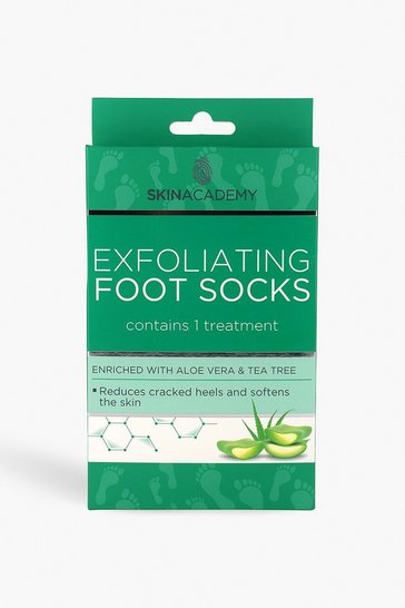Womens Clear Skin Academy Exfoliating Foot Socks - Tea Tree