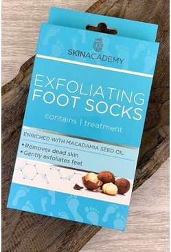 Womens Clear Skin Academy Exfoliating Foot Socks - Macadamia