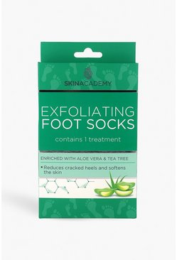 Womens White Skin Academy Exfoliating Foot Socks