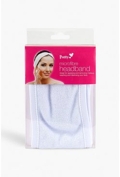 Womens White Pretty Microfibre Headband