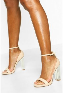 Dam Nude Wide Fit Clear Heel 2 Parts