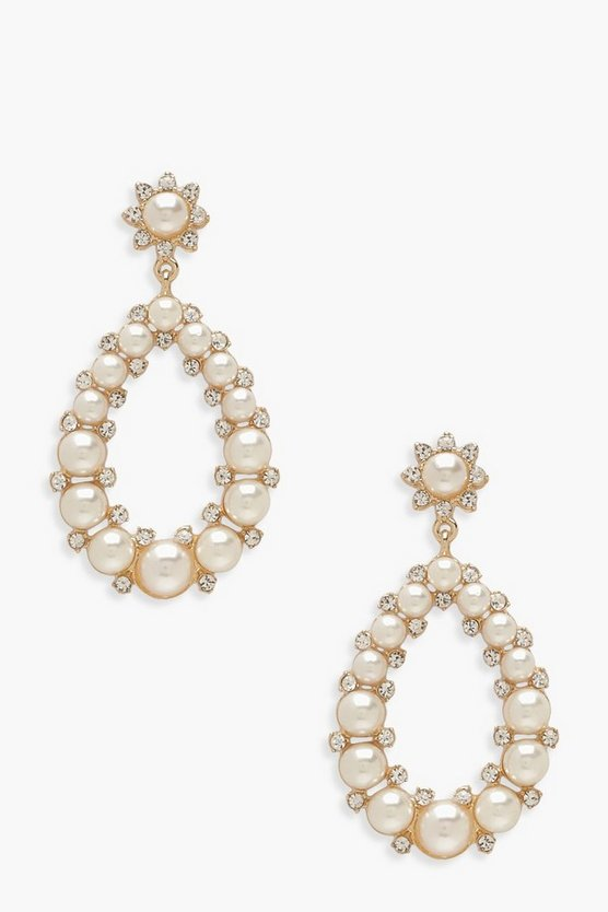 Teardrop Pearl Statement Earrings